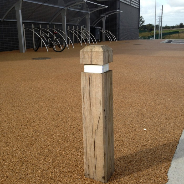Timber Bollard Street Furniture Suppliers Larkin