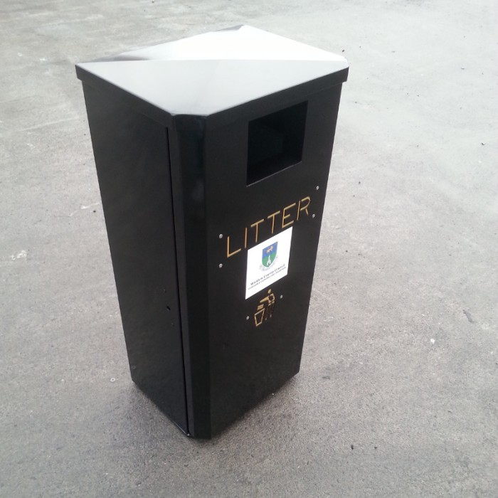 Half Jumbo Litter Bin Street Furniture Suppliers