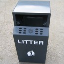 Pole Mounted MK3 Litter Bins