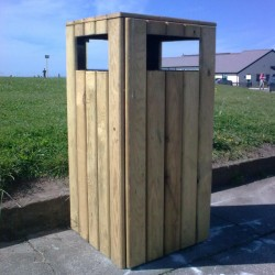 Timber Litter Bin Litter Bins