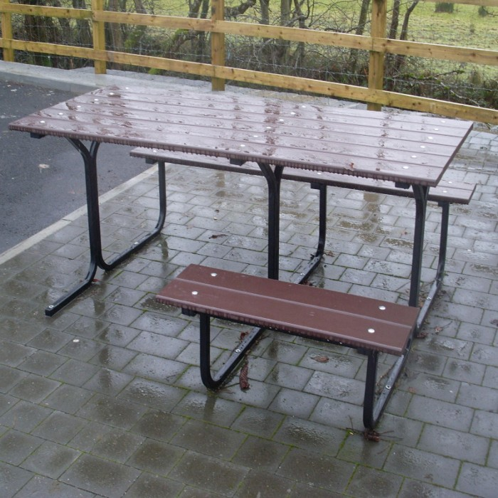Wheelchair Accessible Option Street Furniture Suppliers Larkin - Wheelchair picnic table