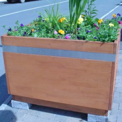 Hardwood Timber Planter Planters