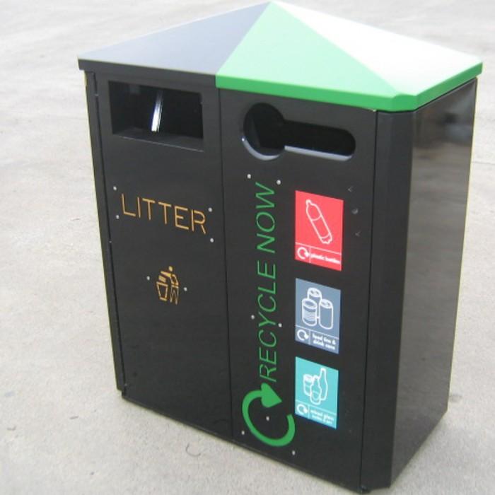 Jumbo 2 Way Recycling Bin Street Furniture Suppliers