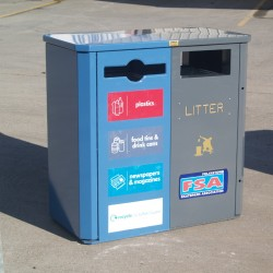 Jumbo 2-Way Recycling Bin Recycling Litter Bins