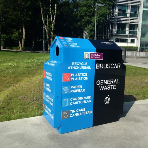 MK3 2-Way Recycling Bin Recycling Litter Bins